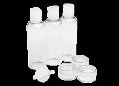 Cailap Matkasetti  sis. 3x100ml pullo,3xpurkki,suppilo,pussukka 8 kpl